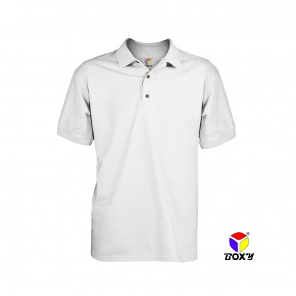 BOXY Microfiber Classic Short Sleeve Polo Shirts (White)